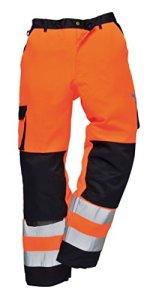 Portwest TX51–Pantalon Haute Visibilité, 1pièce, M, orange/bleu marine