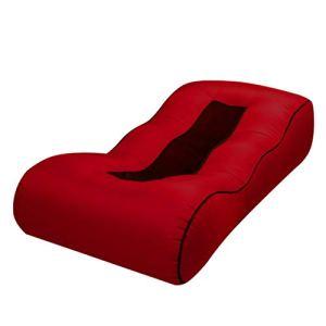 Qinghengyong Gonflable Sac Air Transat Lit Chaise Longue Lazy Couch Chaise Portable Outdoor Plage Lit Pliant étanche vin rouge1