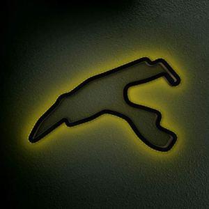 Racetrackart Spa Francorchamps avec LED – Largeur : 46 cm