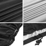 Redmoo Housse de Salon 200 x 160 x 70 cm Table Rectangulaire Oxford pour Meubles de Jardin UV Protection (Noir)
