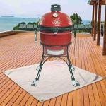 Saicowordist Tapis de braise, tapis de foyer | Tapis de grill | Protégez votre terrasse, pelouse ou camping contre les braises (80 x 100 cm)