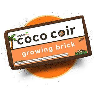 simplelifeco UK Briques de culture de noix de coco 9 l (650 g) | 100 % durable sans tourbe (lot de 10)