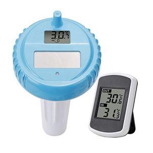 SNOWINSPRING Thermomètre de Piscine Sans Fil Solaire Numérique Piscine Flottante Printemps Spa Bébé Thermomètre de Piscine Flottante