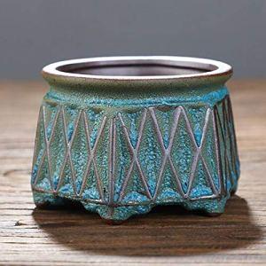SPLLEADER Creative Succulent Flowerpot Plante Verte Vase Planteur Bonsai Pot PC de Bureau Ornements Artisanat Céramique Art Garden Fleur Plante (Color : 9.5x7cm)