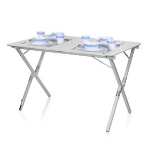 Table de camping Campart Travel TA-0802 – Plateau à enrouler 110 x 70 cm