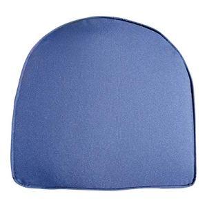 UK-Gardens Navy Blue – Coussin/Assise de Chaise de Jardin Dos Rond – Idéal pour chaises de Jardin en Plastique – Housse Amovible – Double Passepoil – Bleu Marine