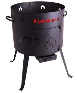 Utschak, hauteur : 63 cm-diamètre : 45 cm/15 kasan vin grillplanet feuerkessel fût extérieur