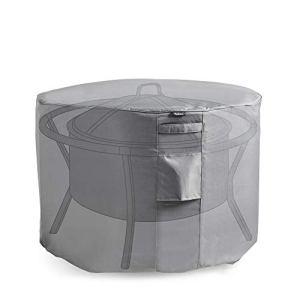 VonHaus — Housse protectrice pour braséro rond — Tissu étanche et respirable — Pour utilisation en intérieur ou en extérieur — Protège du vent, de la pluie, du gel, de la chaleur et de la poussière