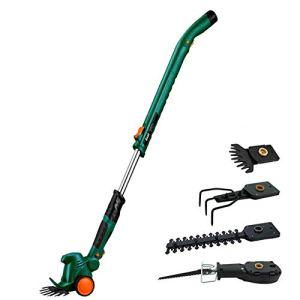 WAWZNN Scarificateur de pelouse 4 en 1 Scarificateur électrique avec Coupe-Herbe et scierie, Râteau de Jardin électrique pour améliorer la santé du Jardin