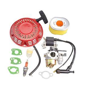 WOOSTAR GX160 Carburateur avec Bobine D'allumage avec Kit de Démarrage à Rappel Remplacement pour Pièce de Moteur GX140 GX168 GX200 5.5hp 6.5hp