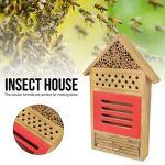 XiangXin il a fière Allure Aussi Bien Maison d'insectes en Bois Chambre d'insectes en Bois Abri d'hôtel Jardin de Maison d'insectes Non Toxique et Durable pour Les Abeilles nicheuses