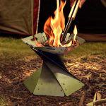 XIYUN Feu de camp pliable en acier inoxydable pour le camping, le trekking, la cour, le jardin de Noël