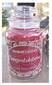 Yankee Candles Congratulations Home Sweet Home 22g Grande bougie en pot