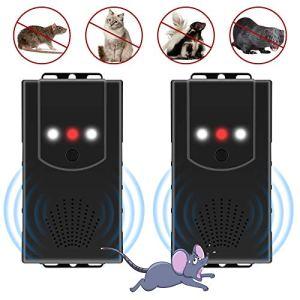 [2 pièces]Répulsif Ultrason pour voiture, 3 en 1 Électronique Dissuasion de Rat, Contrôle des parasites, Rejet des Souris et des Rongeurs avec Lampes Stroboscopiques à DEL pour voiture,Grenier,Grange