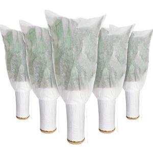 6 Couvreture d'Hiver à Cordon Plantes 39 x 31 Pouces Couverture Chaude de Protection de Plante Protection Contre Gel de Plante Sacs Couverture de Protection Contre Gel des Arbres pour Extérieur