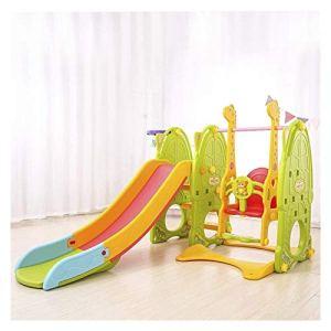 6 en 1 Ensembles Diapositives intérieur for enfants en bas âge, peuvent être utilisés avec Swing, Porte Football, Assiette Tables pliantes, stand de basket-ball, batte de baseball, Ball Pool toboggan