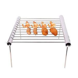 ACEHE Mini barbecue à clip pliable en acier inoxydable portable et durable pour la maison