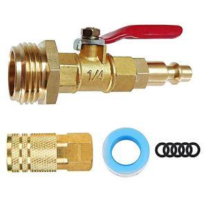 Adaptateur antigel avec vanne à bille et 1/4 raccord rapide 3/4 en laiton prise de pulvérisation d'eau connecteur d'air pour tuyaux d'eau de remorque de bateau