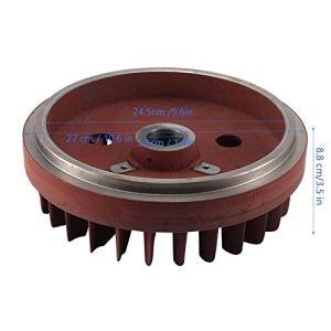 Akozon Ventilateur de pièces de volant moteur de générateur 5KW Ventilateur de refroidissement du volant moteur pour générateur diesel à cylindre unique refroidi par air 188F