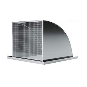 AWCPP Wall-Mountable Bull-Nose Vent, Vent Cowl 304 Stainless Steel Air Vent Louvers Cover Chimney Cowl Cap with Louvres Built-In Fly Screen Mesh Vent Cowl,12 Inches,14inches