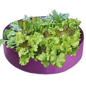 Babody Jardinière surélevée en tissu pour plantes aromatiques, fleurs, légumes (violet, diamètre 36 x hauteur 12)