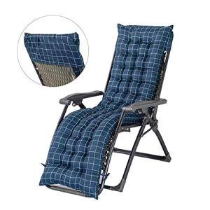 Balancelle Rocking Chair épais Coussin avec antidérapante Doux Capuche Confortable Coussin Canapé inclinable Portable for Jardin Patio Vacances Relax (Color : Blue)