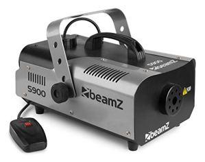 Beamz S9000 Appareil à fumée DJ – Machine à brouillard (70m³/min, télécommande) – Fourni avec 5 litres de liquide