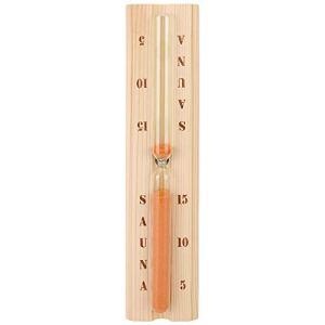 Bigking Minuterie de Sauna, Horloge de sablier de Sauna de pin minuterie de Sable en Bois résistante à la Chaleur précise pour Le Bain de Station Thermale