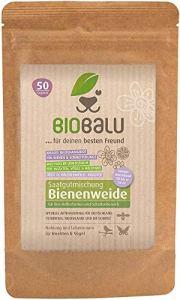 Biobalu Mélange de fleurs pour prairie d'abeilles – Jusqu'à 50 m², pluriannuel et hivernal, nombreuses fleurs et herbes sauvages – Idéal pour semi ombre et ombre – 50 g