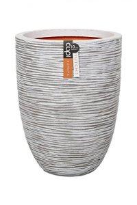 Capi KOFI783 Rib – Vase élégant bas nervuré – 46x58cm – ivoire