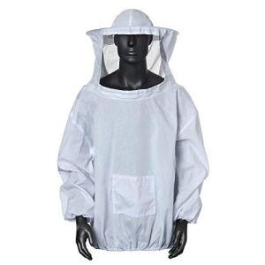 Cisixin Blouse Costume Équipement de Protection avec Chapeau Professionnel Anti Abeille pour Apiculture Apiculteur