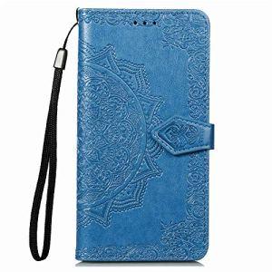 Coque pour Xiaomi Mi Play Coque,Housse en Cuir Flip Case Portefeuille Etui avec Stand Support et Carte Slot pour Xiaomi Mi Play – EYSD011601 Bleu