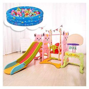 Diapositives for enfants, intérieur multifonctions Structures de Jeu peut être utilisé avec balançoire, Football Porte, Stand de basket-ball, Batte de baseball, Piscines à balles toboggan interieur en