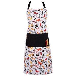 DII 100% Coton, Rainbow Tie Dye Unisexe Bavoir Chef Tablier de Cuisine avec Poche, réglable Cou et Tour de Taille Ties, Durable, Confortable, idéal pour la Cuisine, Pâtisserie, Barbecue,