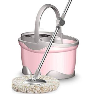 DSWSH Vadrouille, seau de vadrouille à essorage magique en microfibre tournant à 360 ° for vadrouille facile à laver lavable (Color : A)