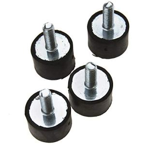 ENET Lot de 4 supports de canette en caoutchouc anti-vibration M8 mâles femelles pour bateau, voiture 20 x 30 mm