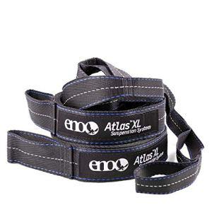 ENO, Eagles Nest Outfitters Atlas XL Hamac Bretelles Système de suspension avec sac de rangement, Capacité de 181,4 lb, 13'6″ x 1,5/.75″