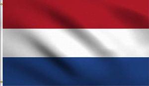 Ericraft Drapeau néerlandais pour extérieur renforcé avec 2 œillets métalliques, drapeau néerlandais en tissu, 90 x 150 cm