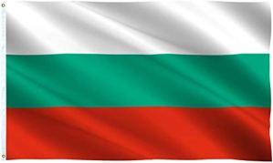 Ericraft Grand drapeau bulgare 90 x 150 cm Drapeau bulgare de balcon pour extérieur renforcé avec 2 œillets métalliques, drapeau bulgare en tissu, Bulgarie Flag