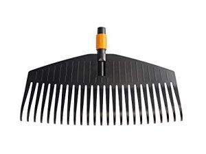 Fiskars Balai à feuilles, Tête d'outil, 25 dents, Largeur: 50 cm, Dents en plastique, Noir/Orange, QuikFit, 1000642