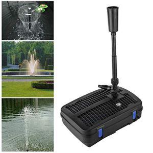Forever Speed Pompe de Bassin 4 en 1 avec Filtre, Filtre UV 11 W, 2500 l/h, avec câble d'alimentation de 10 m pour Fontaine et Jardin
