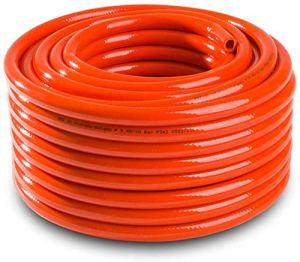 Haute Pression 9mm Propane Butane gaz GPL Tube Tuyau pour BBQ Camping Caravaning – Orange, 15m