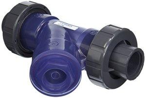 Hayward YS00150TU Joint en Y en PVC transparent fileté avec joint torique FPM