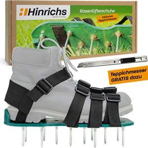 Hinrichs – Aerateur Pelouse – Scarificateur Manuel – pour Aérer Facilement Les Pelouses