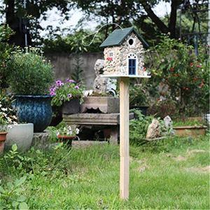 Honglimeiwujindian Maisons d'oiseaux de Jardin Oiseau Vertical extérieur Mangeoire d'oiseaux en Bois Bird House Maison d'extérieur Maison Log House Style Décorations de Jardin de Cabane