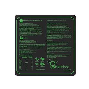 Hyindoor Tapis Chauffant pour Semis Coussin de Chauffage Hydroponique Imperméable pour Semis Germination dans Serre de Jardin Heat Mat pour Reptile et Graine 50.8×50.8 cm