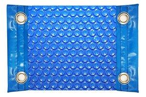 International Pool Protection Couverture Thermique de 600 microns économique avec Renfort dans Les côtés étroits + Oeillets en Acier Inoxydable 10 x 4m
