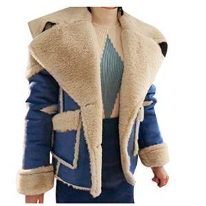JXQ-N Femmes Oversize Lapel Wrap épaule Manteau en Cachemire en Laine mélangée Trench Veste Outwear