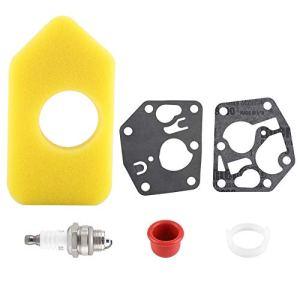 Kit de diaphragme de carburateur, Filtre à air et Joint d'amorce de Bougie pour Joint de carburateur pour Petits carburateurs Briggs Stratton Pulsa Prime