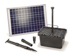 Kit de filtre de bassin à énergie solaire – Capacité 1300litres/heure – Panneau solaire 20W – Pour bassin jusqu'à 4000 litres – 101067